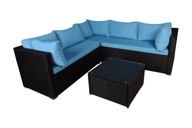 Honolulu Modern Outdoor Sectional With Coffee Table