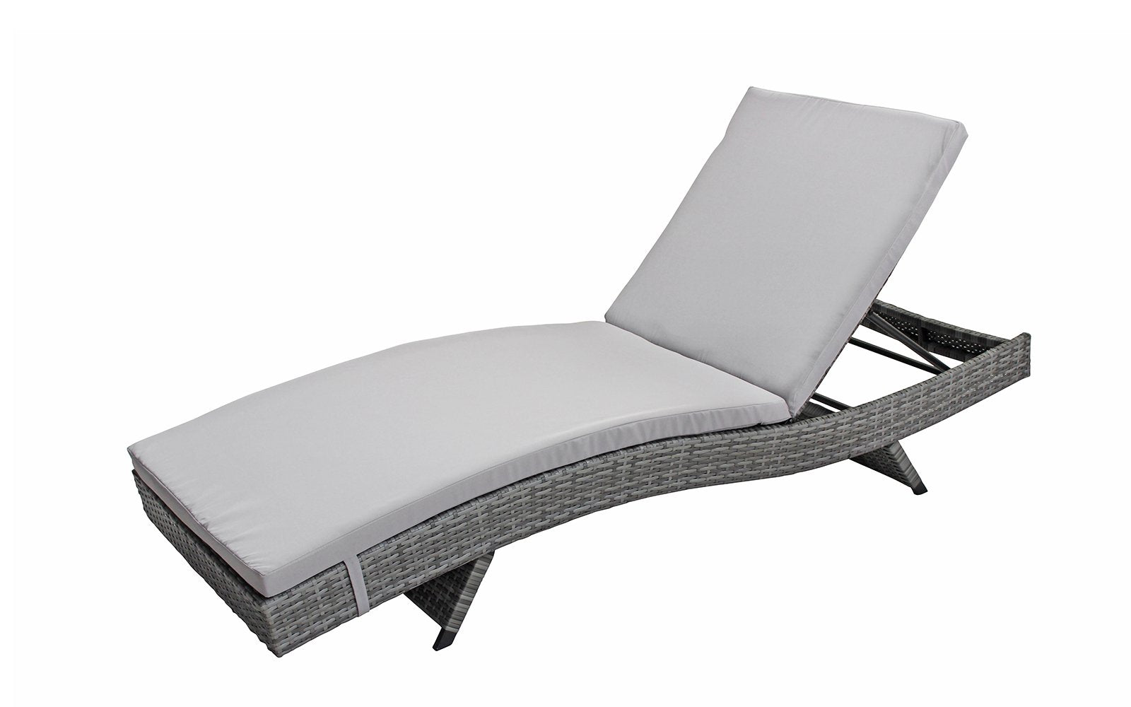 ... Marina 2 Pack All Weather Modern Outdoor Patio Chaise Lounge Chairs  Upright And Grey ...