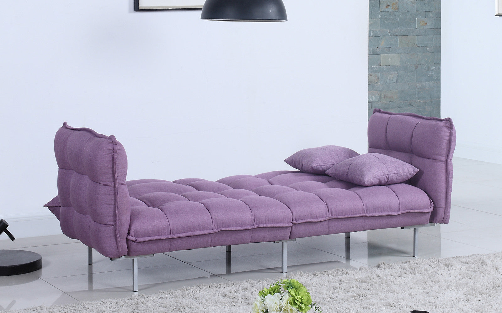 Enjoyable Scoop Funky Plush 70S Inspired Tufted Linen Futon Gmtry Best Dining Table And Chair Ideas Images Gmtryco