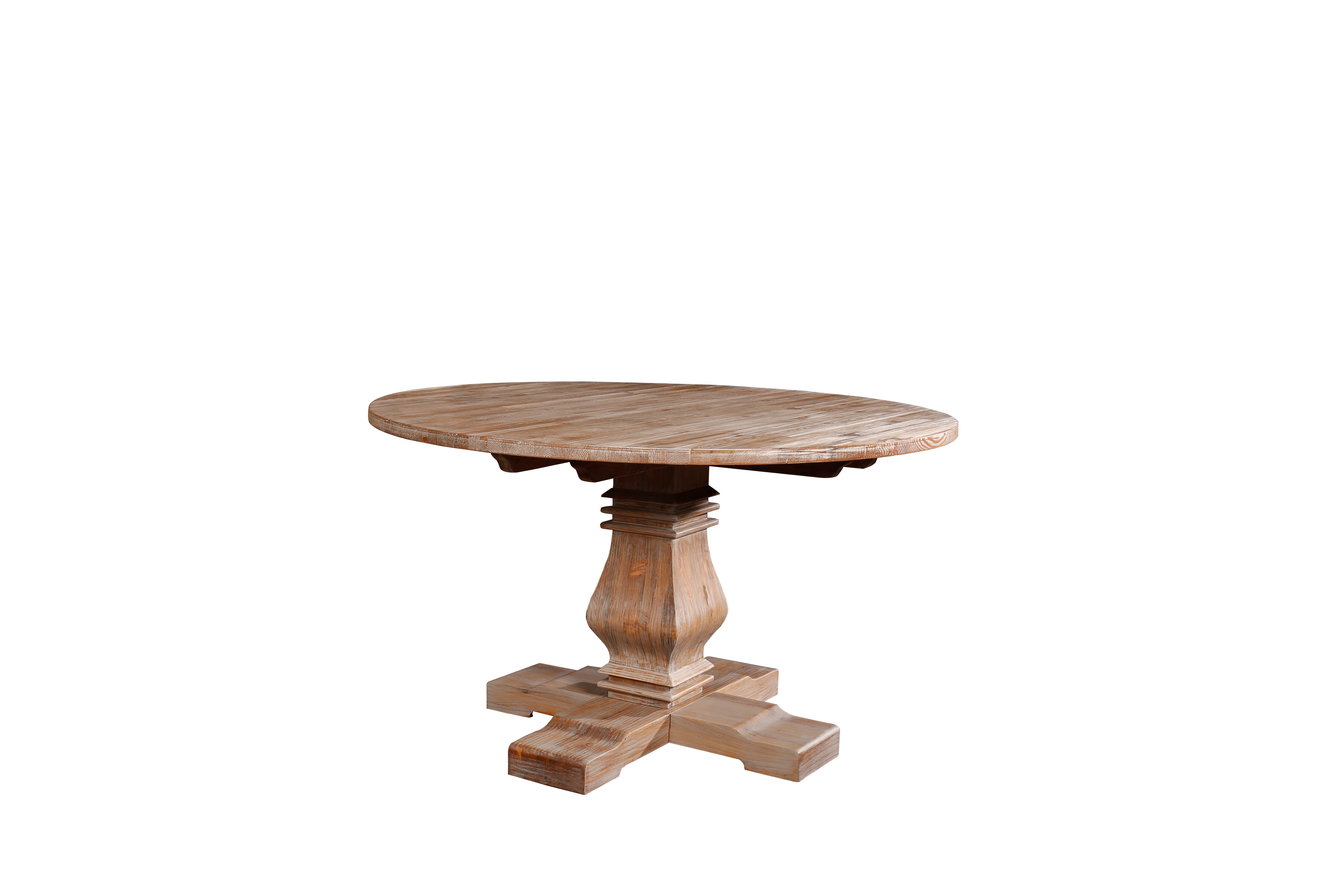Merritt Rustic and Distressed Style Dining Room Table | Sofamania.com