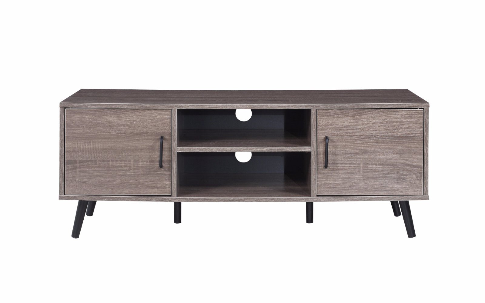 mid century tv cabinet parrish modern tv credenza with 2 side cabinets 23323