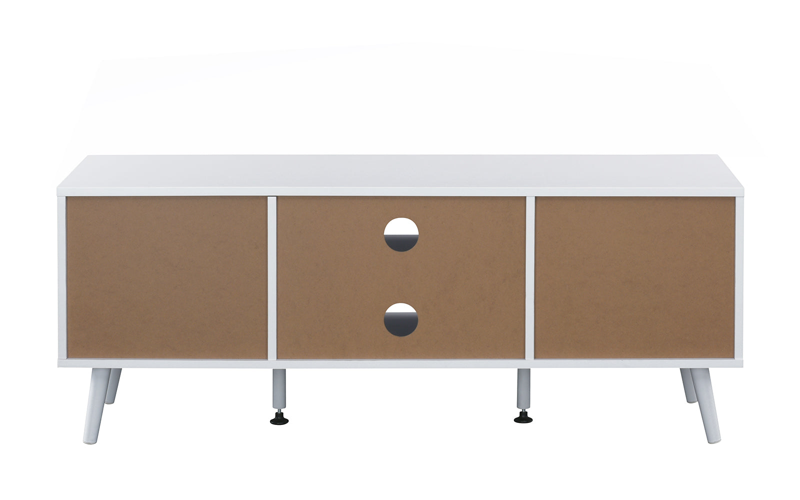 Parrish Mid Century Modern TV Stand Credenza With 2 Side Cabinets
