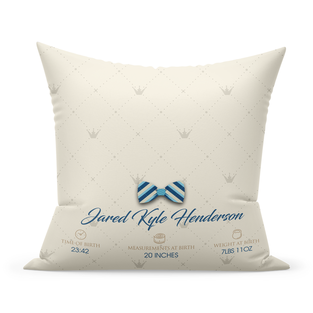 Personalized New Born Pillow- Gold Alphabet