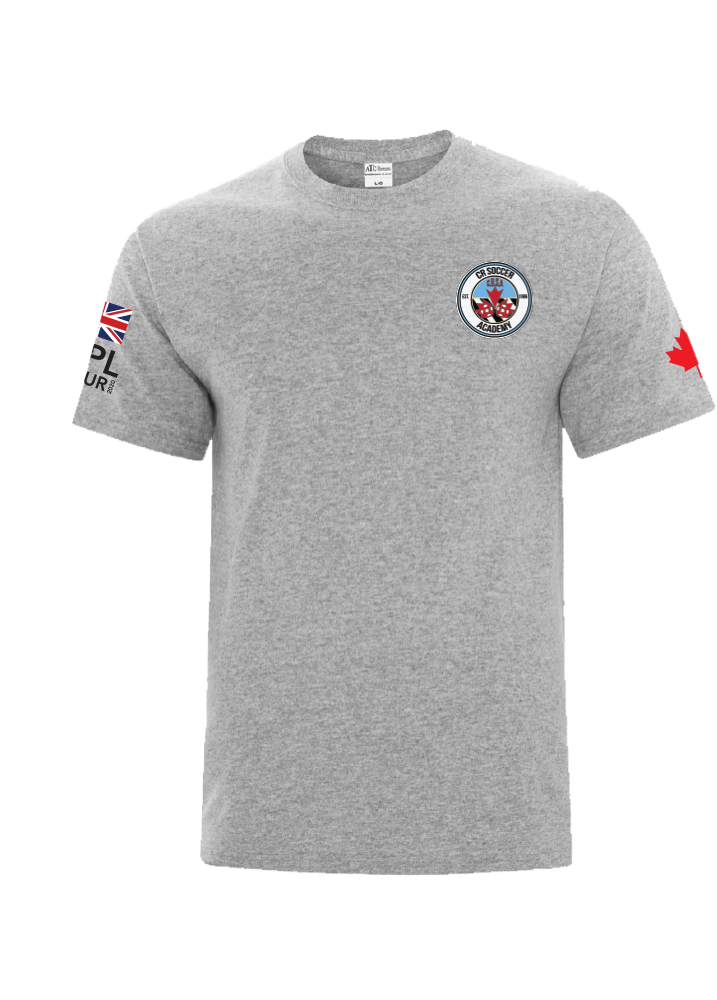 CR Soccer Grey Everyday Cotton Tee- Youth