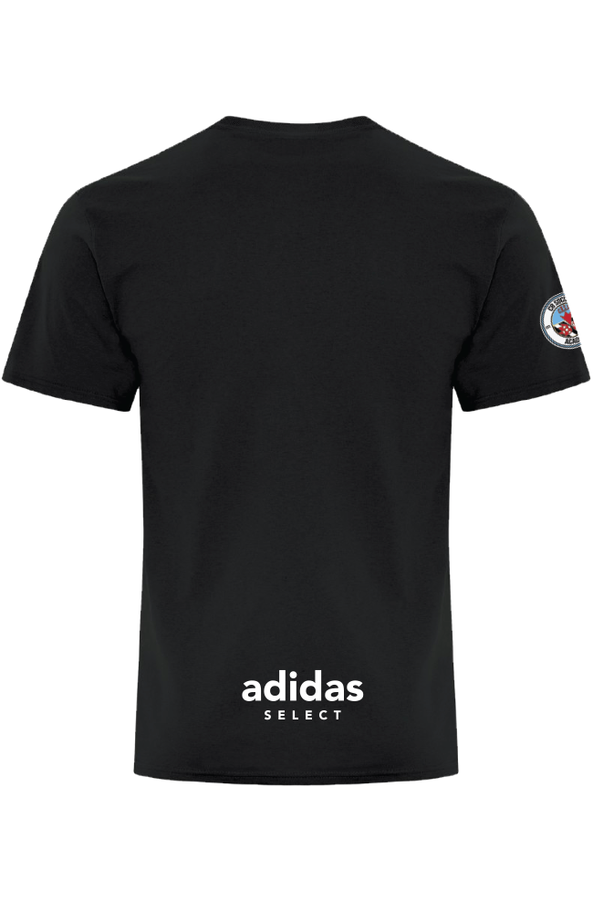 CR Soccer Black Everyday Cotton Tee- Adult