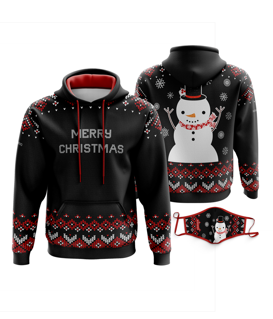 Xmas Sweater Sublimated Hoodie Combo- Frosty Flake