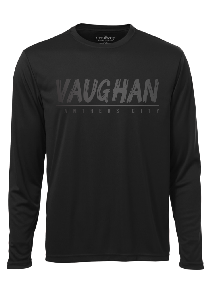 "VAUGHAN PANTHERS ""BLACKOUT"" PRO TEAM PERFORMANCE BLACK LONG SLEEVE SHIRT- Youth"