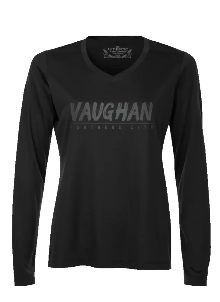 "VAUGHAN PANTHERS ""BLACKOUT"" PRO TEAM PERFORMANCE BLACK LONG SLEEVE SHIRT- Ladies"