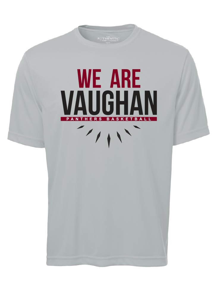 "Vaughan Panthers Pro Team Performance Grey ""We Are Vaughan"" T-Shirt- Men's"
