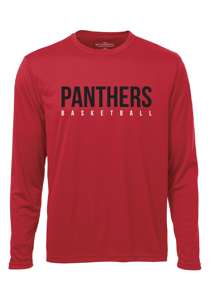 "Vaughan Panthers ""League"" Pro Team Performance Red Long Sleeve Shirt- Men's"