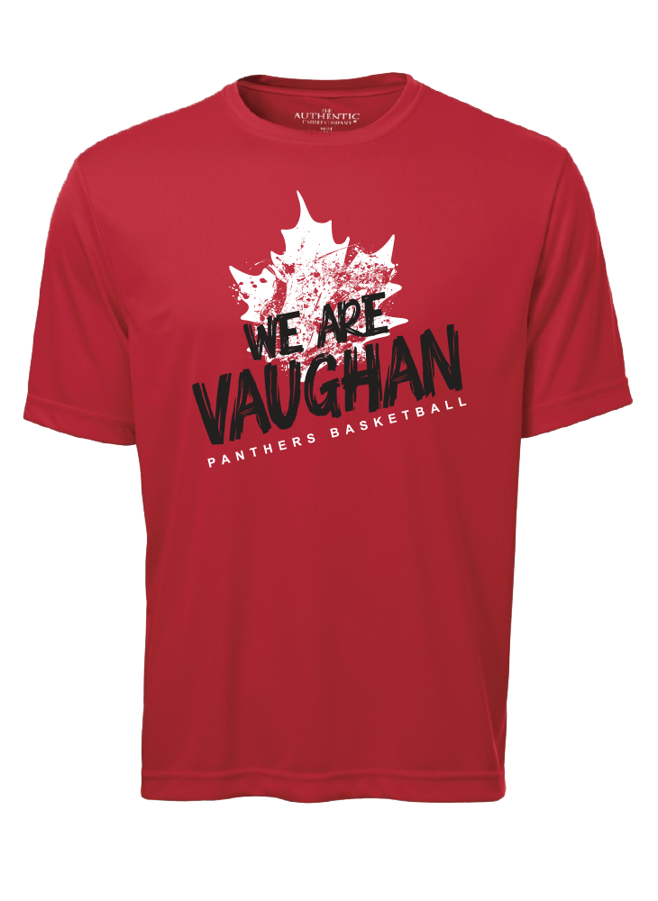 "Vaughan Panthers Everyday Cotton ""We Are Vaughan"" Red T-Shirt- Adult"