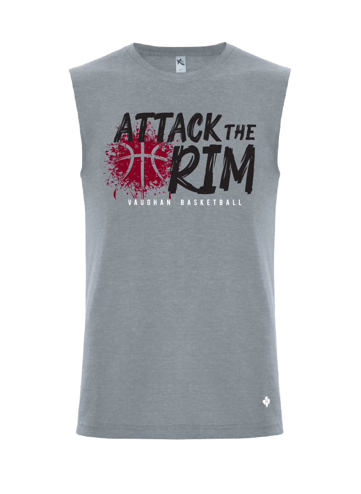 "Vaughan Panthers ""Attack The Rim"" Grey Triblend Tank Top - Adult"