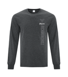Richmond Hill Phoenix Everyday Long Sleeve Cotton T-Shirts - Charcoal