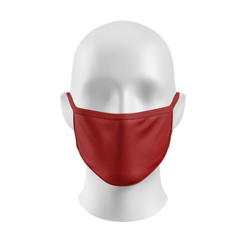 """Red"" Basics Kourtesy Mask"