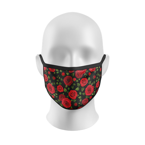 """Wake Up and Smell the Roses"" Kourtesy Mask"
