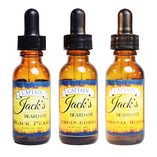 Captain Jack's Beard Oil - Variety Pack (3) - 1oz