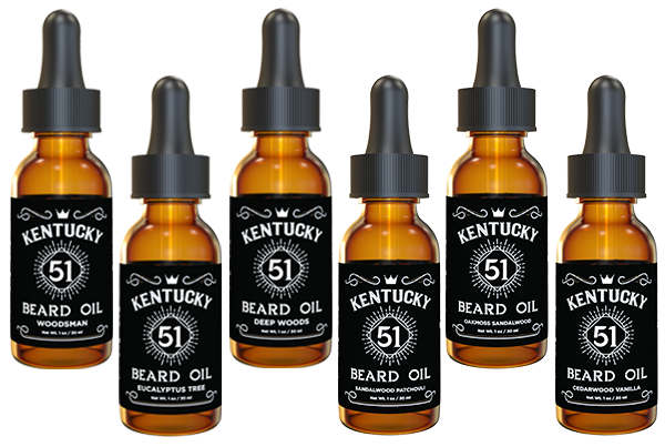 Kentucky 51 Beard Oil  – Variety Packs (6) - 1oz