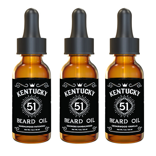 Kentucky 51 Beard Oil – Variety Packs (3) - 1oz