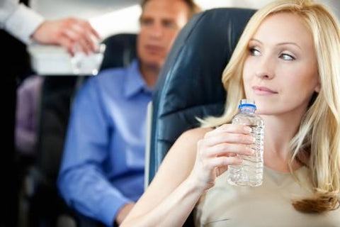 Hydrate when flying