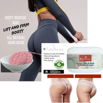 Swiss Botany Beauty Butt Enhancement Soap Cellulite Cream & Butt Enhancement Cream 1 Month Booty Lifting Kit