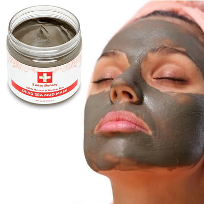 Swiss Botany face mask Dead Sea Mud Mask for Face & Body - 100% all Natural Organic Israeli Mud