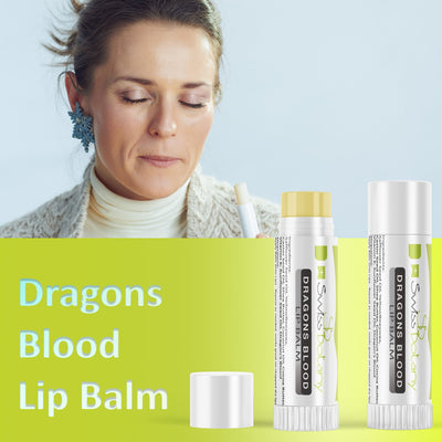 swissbotany Beauty Intense Lip Balm Dragons Blood Genuine Hydrating Lip Plumper for the Moisturized fuller Pouty Lips you've been craving!
