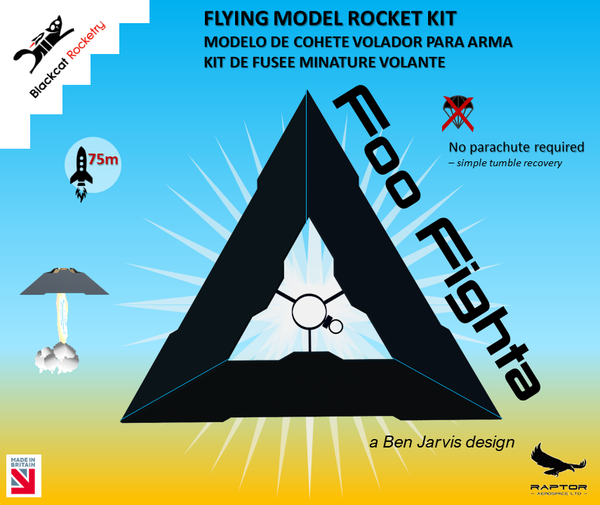 BlackCat Rocketry FooFighta Rocket Kit banner