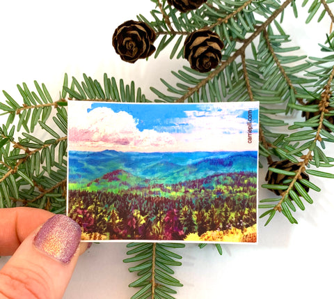 """Vermont Summer"" Art Sticker"