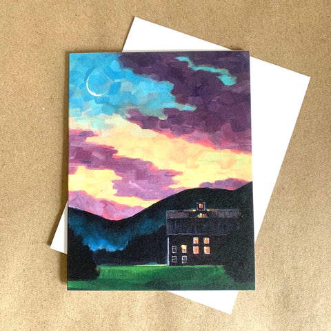"""Wedding Barn Sunset"" Art Card"