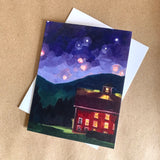 """Wedding Barn"" Art Card"