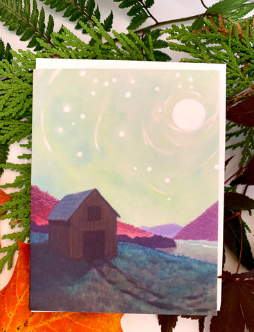 """Full Moon Barn"" Art Card"