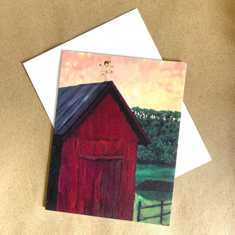 """I Love You Barn"" Art Card"