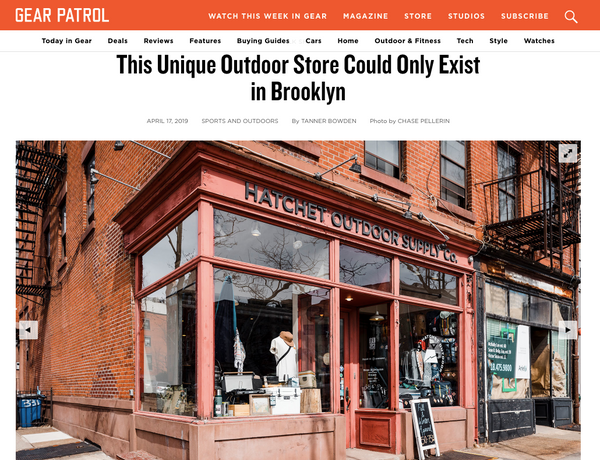 """This Unique Outdoor Store Could Only Exist in Brooklyn"" -Gear Patrol"