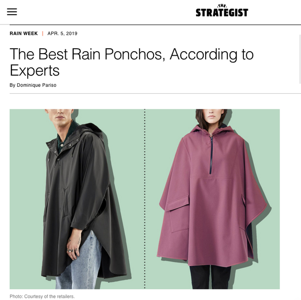 """The Best Rain Ponchos, According to Experts"" -The Strategist"