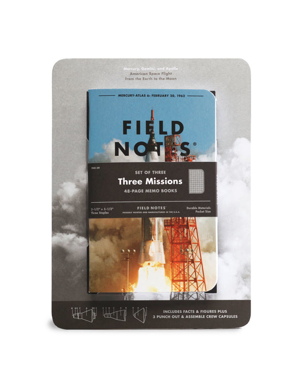 Three Missions Memo Books