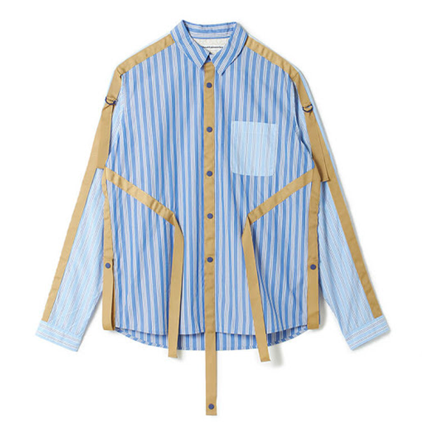 Striped Broad Taped Shirt 'Blue'