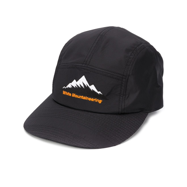 Mountain Logo Embroidered Jet Cap 'Black'