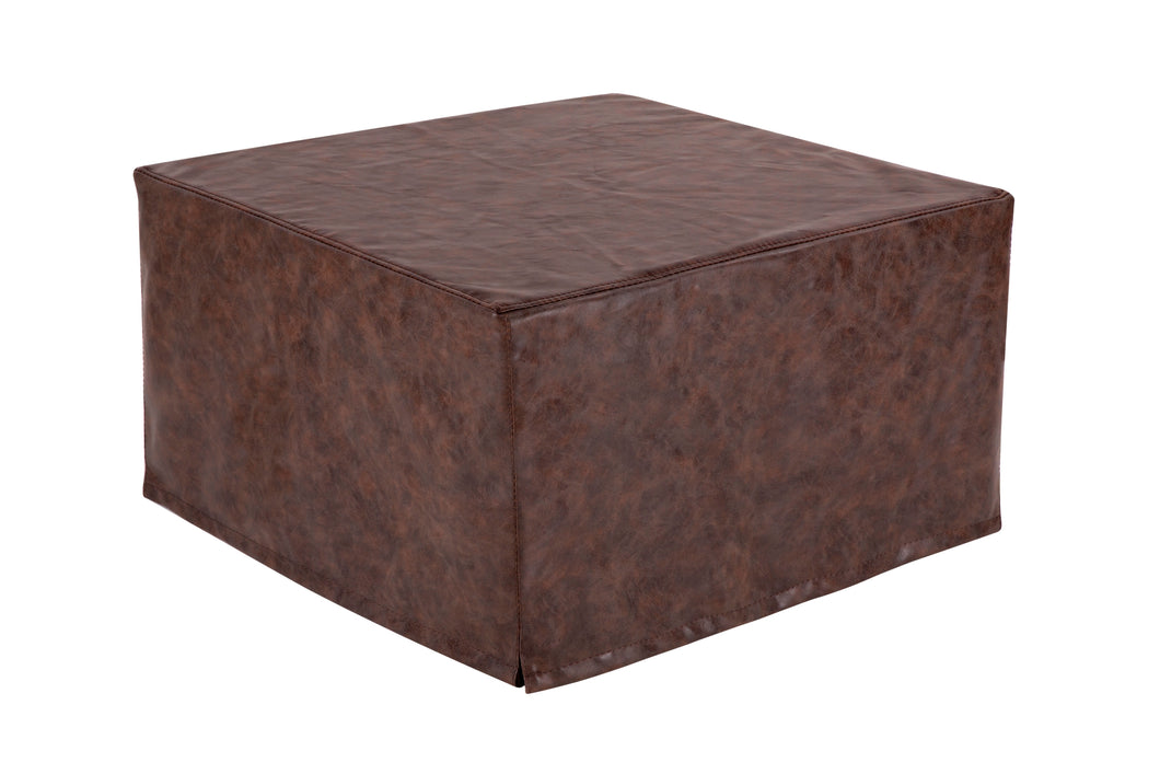 Nova Furniture Group Magical Ottoman Sleeper with Faux Leather Slip Cover, Brown