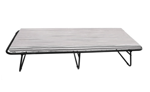 Classic Folding Metal Bed with Foam Mattress