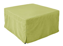 Ottoman Sleeper Foldout Twin Bed Memory Foam Mattress Microfiber Green Cover