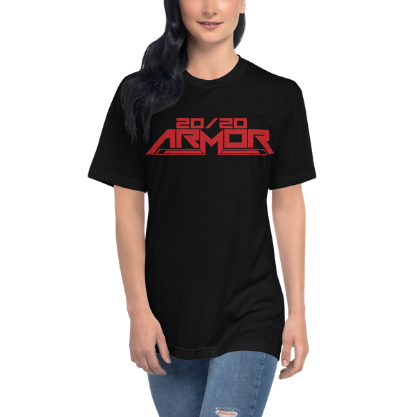 20/20 Armor Unisex Red Print T-Shirt