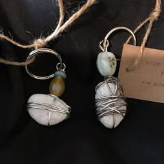 R217 Wire wrapped stone keychains 6.16.1k.2k
