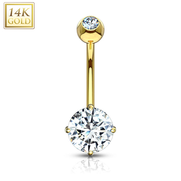 Belly Ring - 14 Karat Gold Double Jewel