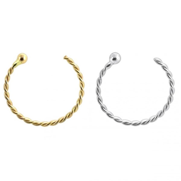 Nose Hooks - 14 Karat Gold Twisted