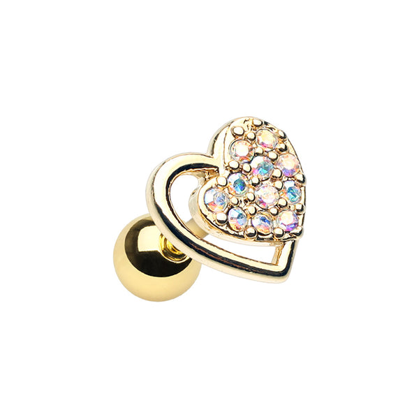 Cartilage - Gold Plated Dreamy Heart