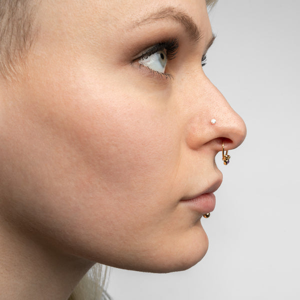 Nose Studs - 36 Pack With Glitter Opal