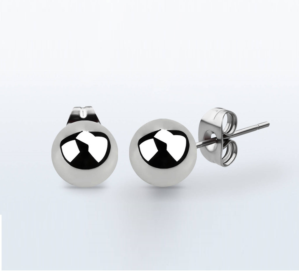 Earrings - Stainless Steel Ball