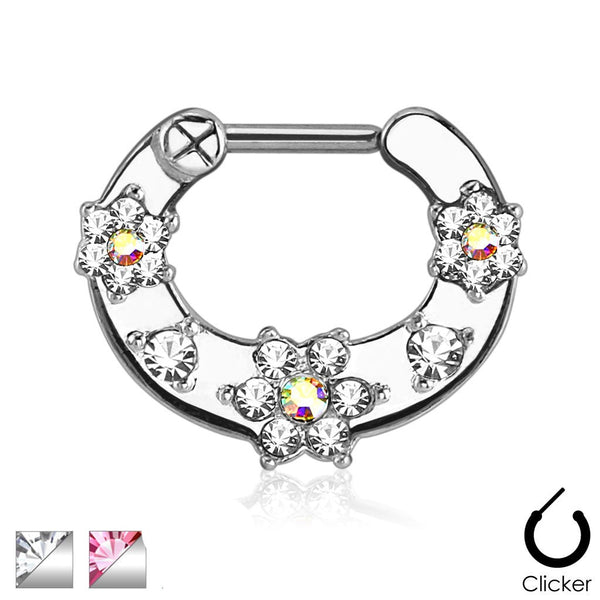 Septum Clicker - Jewelled Flower