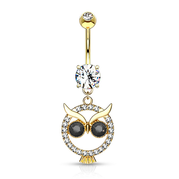 Belly Ring - H Owl