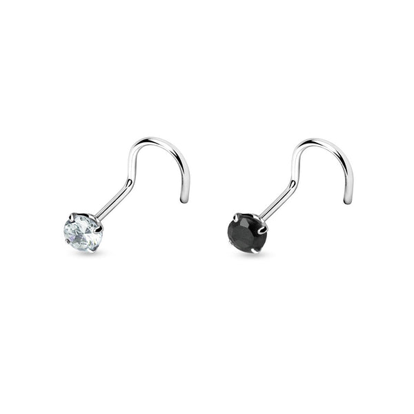 Nose Studs - Nose Screw 3mm Gem